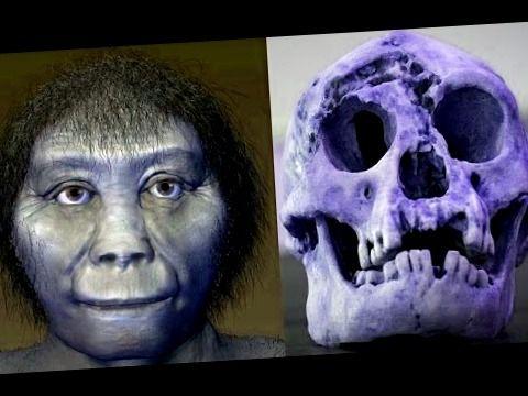 Craneo y reconstruccion de cabeza de homo florisiensis