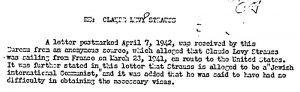 carta acusando a Levi Strauss de ser un Judio Comunista Internacional
